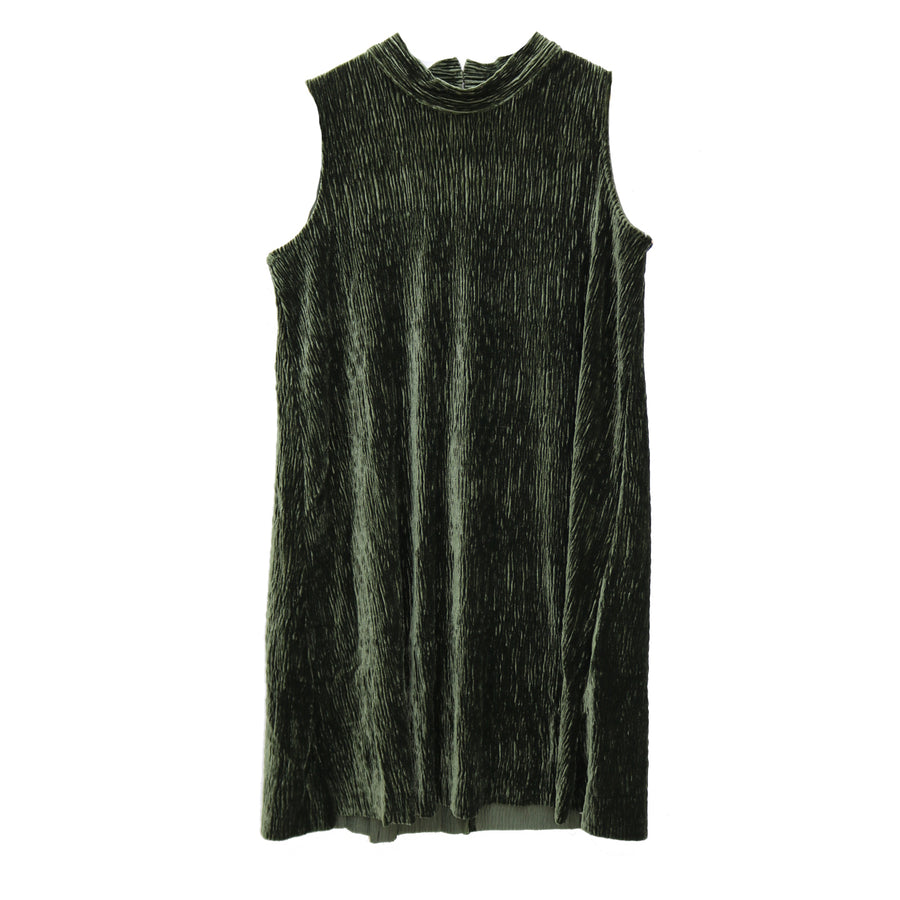 Girl's Velvet Sleeveless Dress - KD1088-OLV