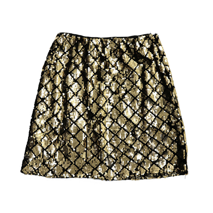 Feeling Festive Sequin Mini Skirt  - SL8129-GLD
