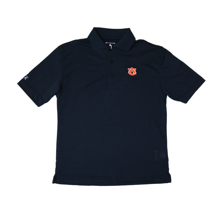 Antigua Youth Auburn Pique Polo- Navy- 100539 PIQUE YOUTH-NVY