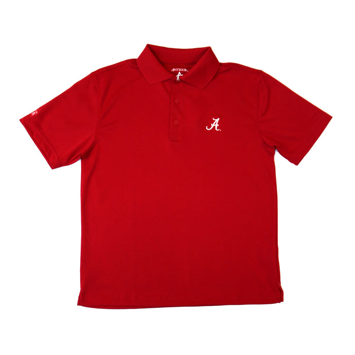 Antigua Youth Alabama A Pique Polo- Red- 100539 PIQUE RED