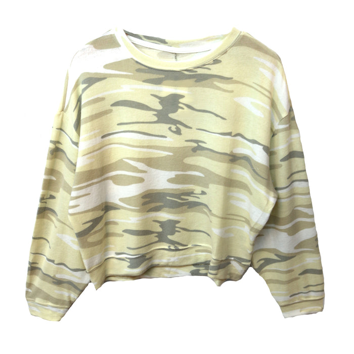 Z Supply Luxe Camo Pullover Crew - ZT184555-CTP