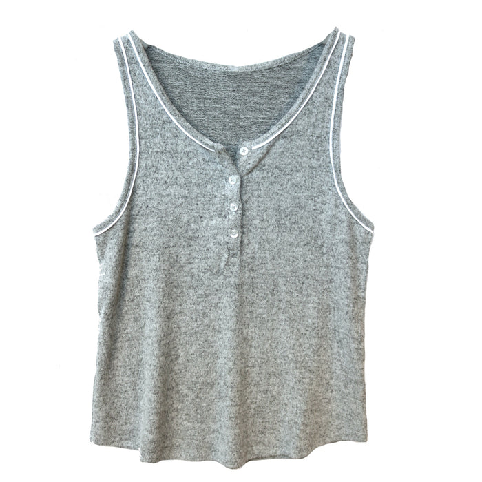 Z Supply Luxe Henley Tank - ZT184551-HGY