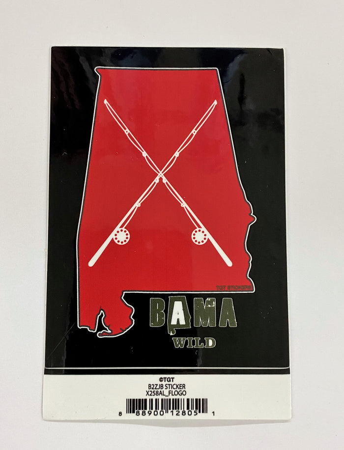 Bama Wild Alabama Fishing Sticker