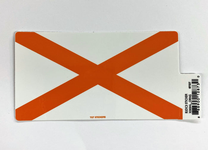 State of Alabama Sticker  - Orange
