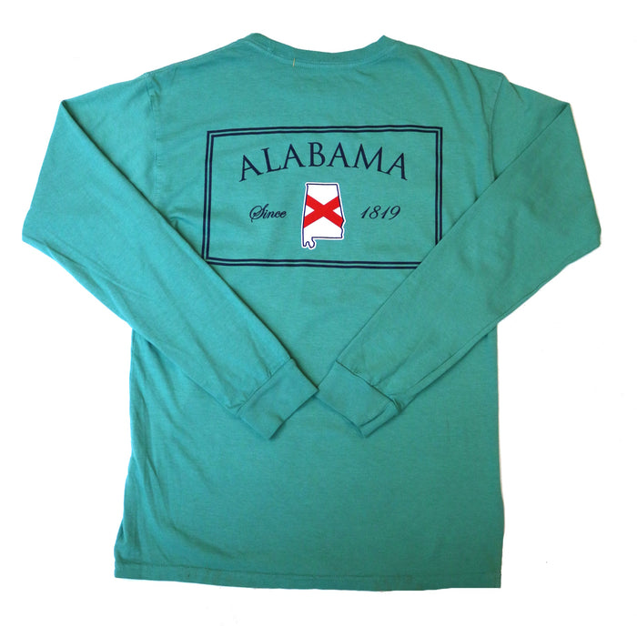 State Company AL Established L/S Tee- AL ESTABLISHED L/S-SEA