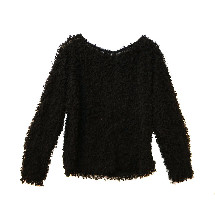 Fringe Fun Sweater - LT24334-BLK