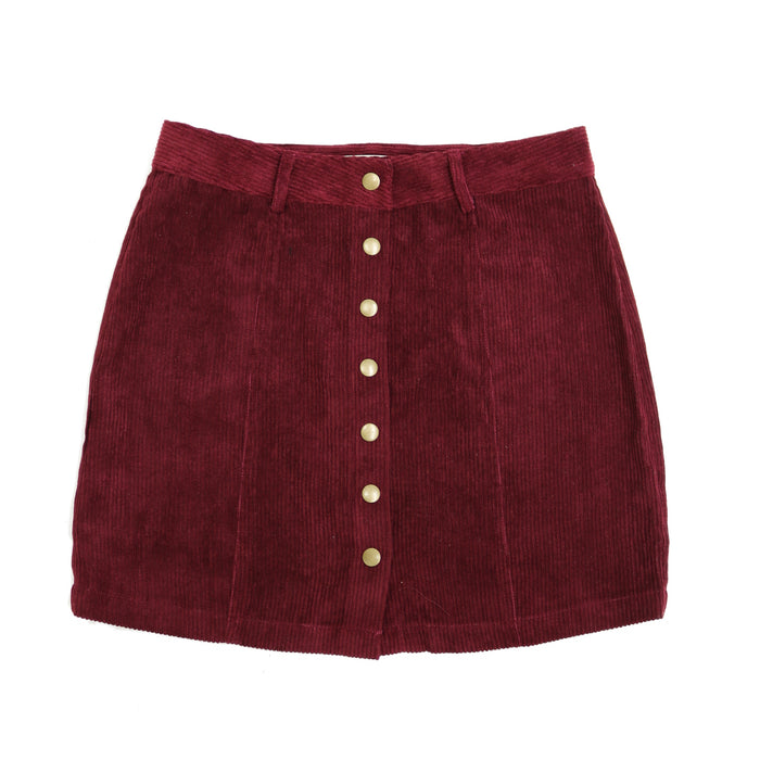 Some Time Coming Skirt  - FL19A082-WINE