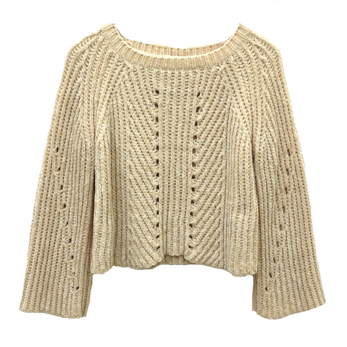 Another Chenille Sweater  - IT650-IVORY