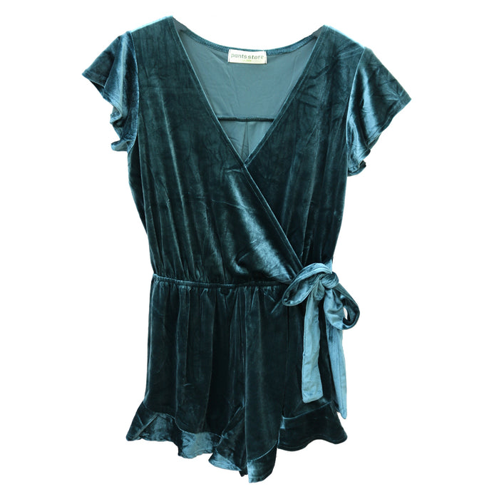 Just in Time for the Holidays Romper - SL8762-TEA