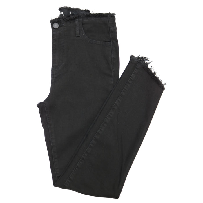 Mid Rise Deconstructed Jean  - WV76540BL-BLK