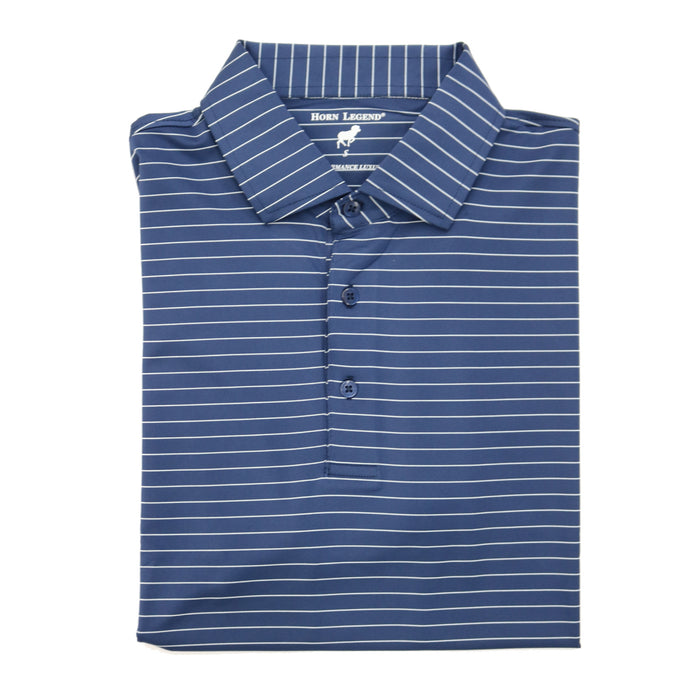 Horn Legend Stripe Polo 1018-Navy/ice blue- HL1018TBP-NVY/ICB