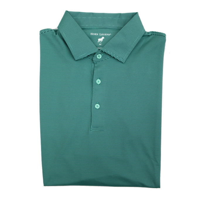 Horn Legend Stripe Polo 1025- Florida green/navy- HL1025TBP-FLOR/NVY