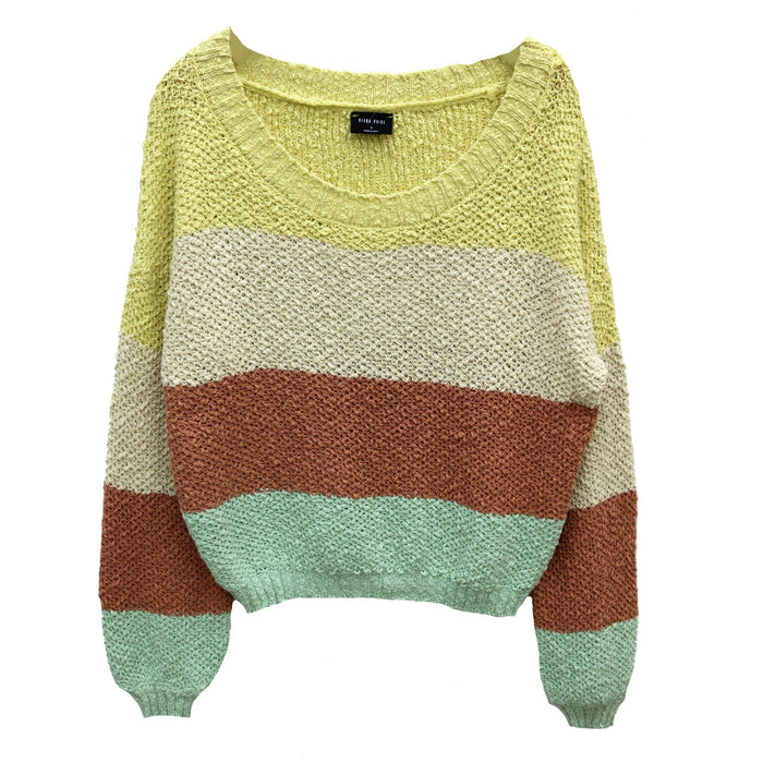 Color Block Sweater - BL1030-MULTI