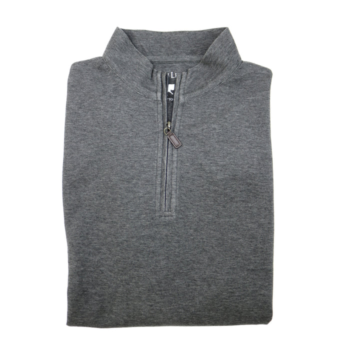Horn Legend 1/4 Zip Pullover- Charcoal/Grey - HLIL046L-CHA/GRY
