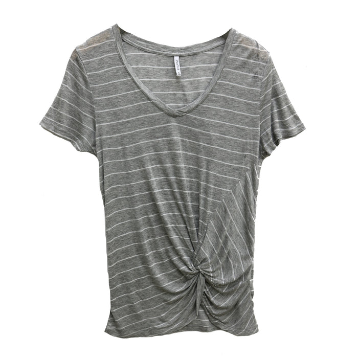 Z Supply Lucca Twist Front Tee - ZT191682-HGY