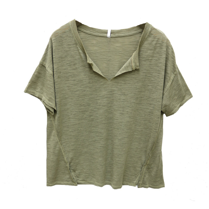 Z Supply Airy Slub Slouchy Tee - ZT191648-SVS