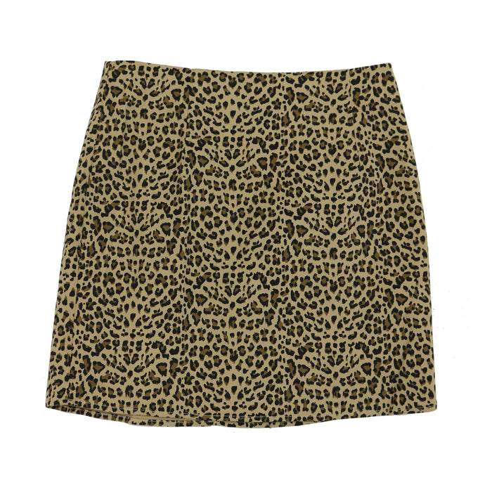 Leopard Print Highwaisted Mini Skirt - L2885-LEO