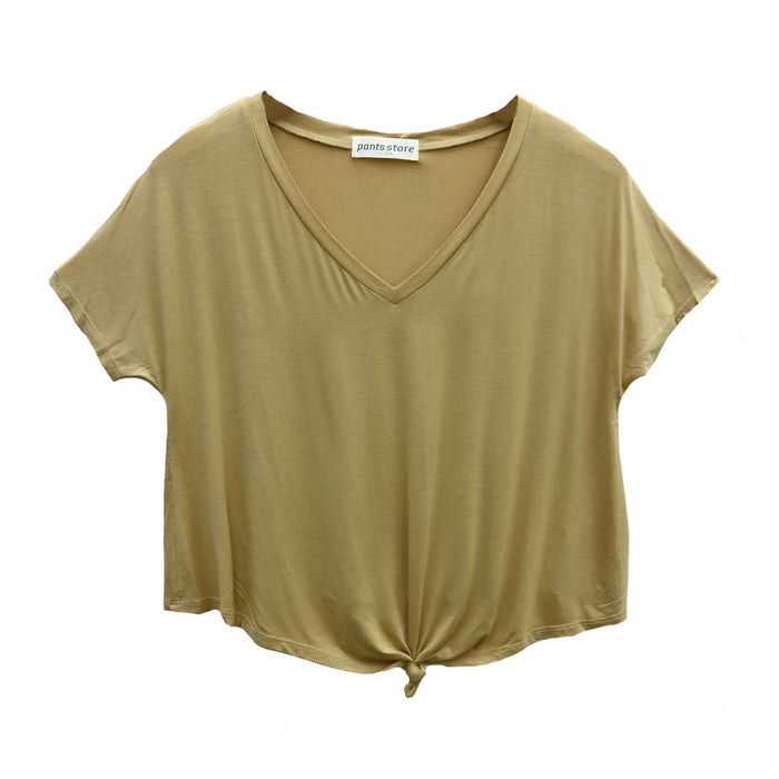 Back To Basics Knotted Top- Mango- DZ19F261-MAN