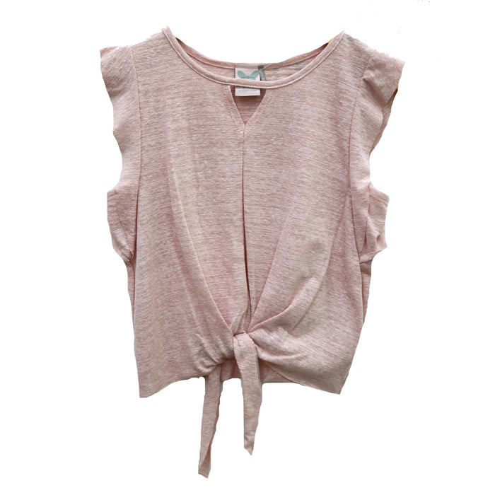 Girl's Tie Front Top  - KTD1261-PNK