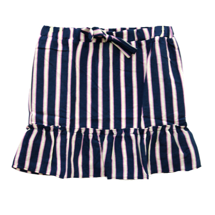 Girl's Stripe Ruffle Skirt - KB1423-NAY