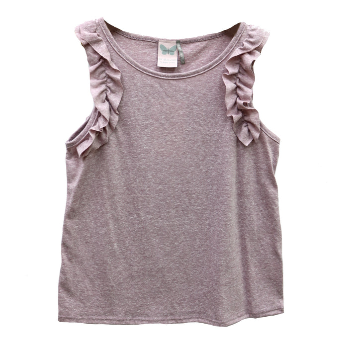 GIrl's Little Bit Of Ruffle Tank - KTD1250-PNK
