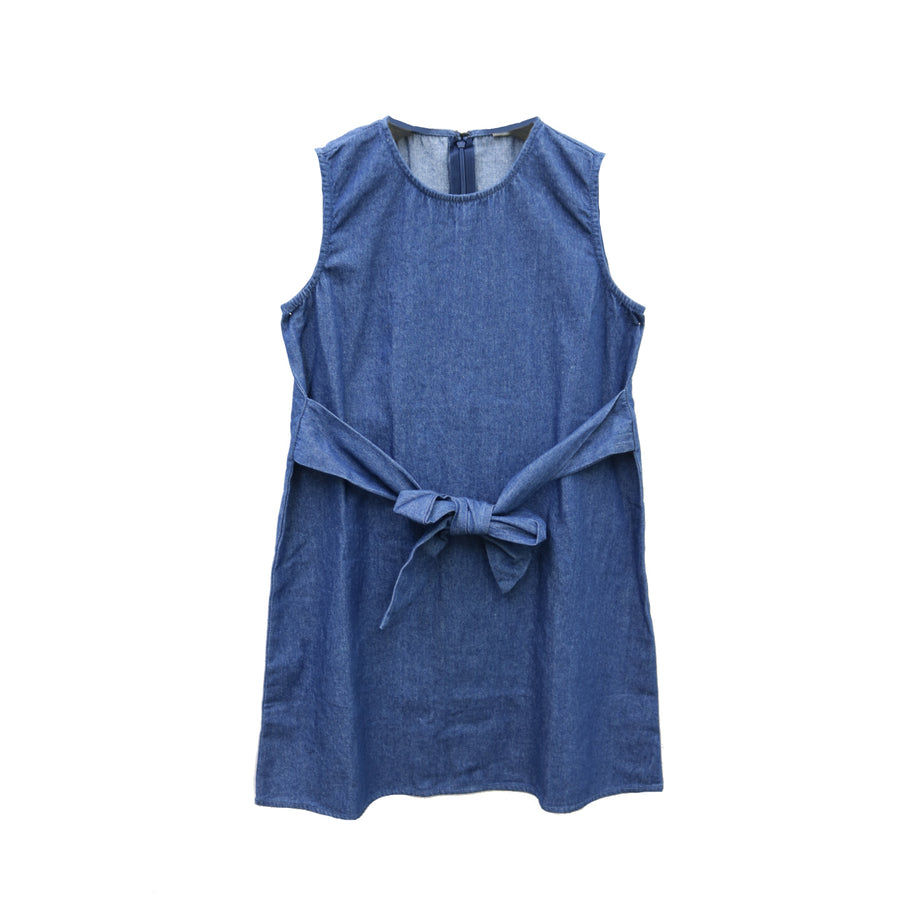 Girl's Down For Denim Dress - TT18008-DEN