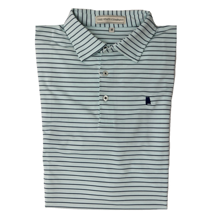 The State Company Classic Stripe Polo-Mint/Navy - MAGNOLIA STRIPE-MNT/NVY