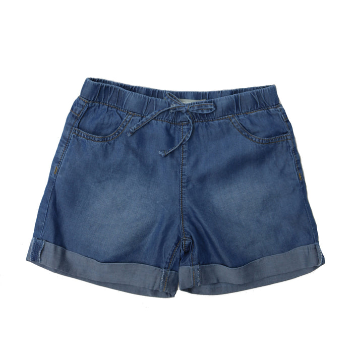 Girl's Light Weight Denim Short - 22029-RTCP-IND