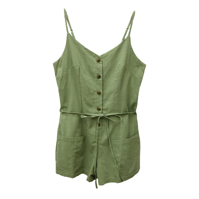 Wandering Through Romper- Olive - OS1627-OLV