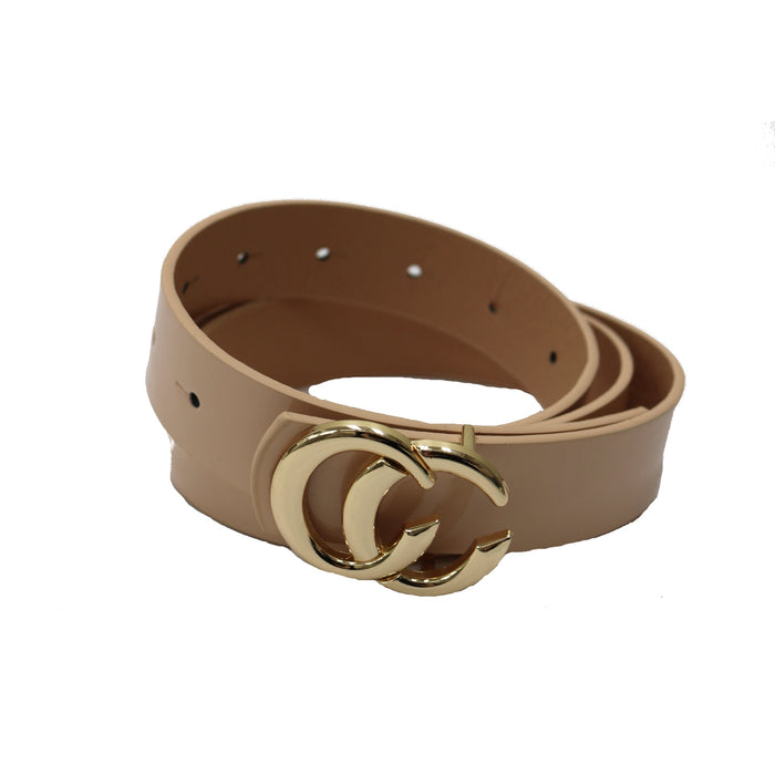 Patent Faux Leather Belt- Nude - IW-2753PA-NUDE
