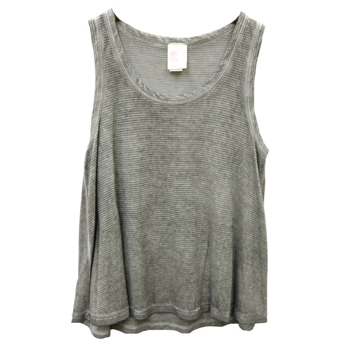 Stepping Into Spring Top- Grey  - FT-5458-GREY