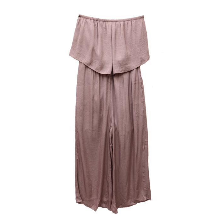 A Satin Good Time Jumpsuit  - MR110824-MYS