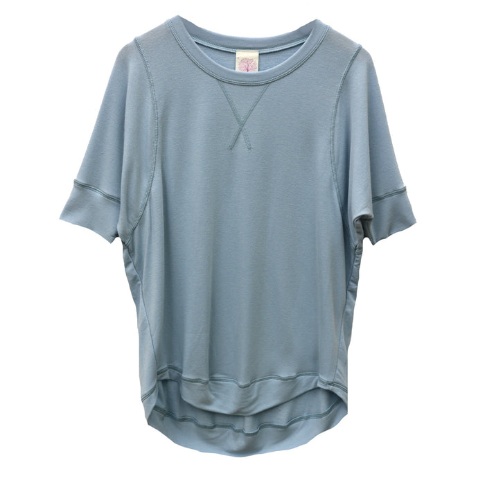 Cozy Slub Tee- Pale Blue - FT-892-PAL