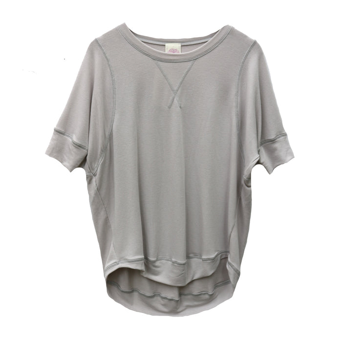 Cozy Slub Tee- Light Silver - FT-892-LT.SIL