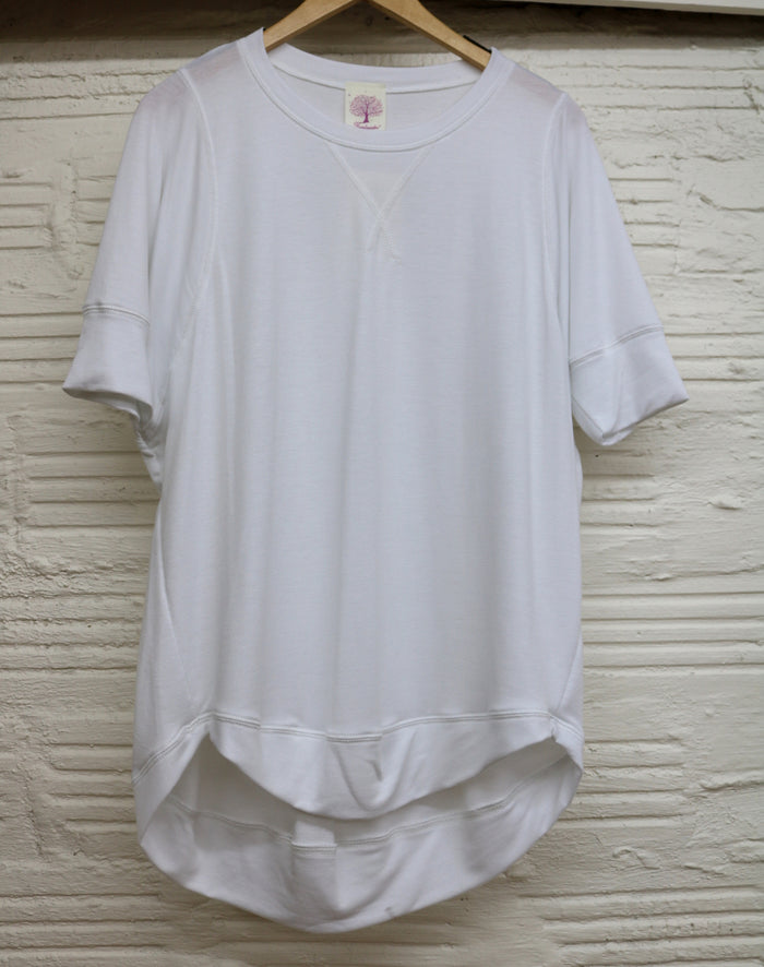 Cozy Slub Tee- White - FT-892-WHITE