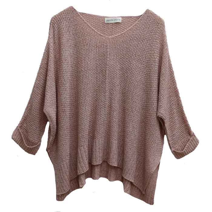 Beach Days Sweater- WL18-0840-BLUSH