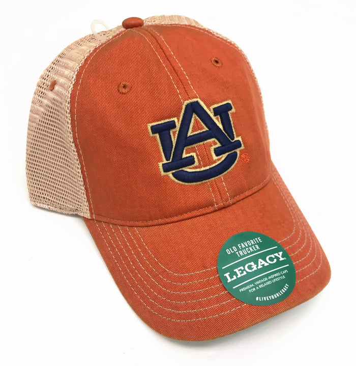 Auburn Old Favorite Trucker Hat- Orange