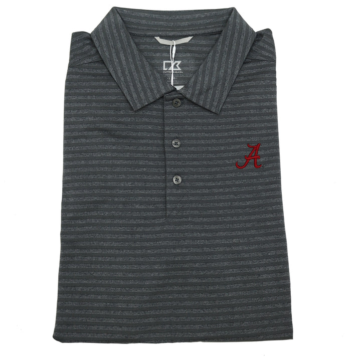 "Cutter & Buck Cascade Melange Stripe Polo- Grey Heather- MCK00058EGH""A"""