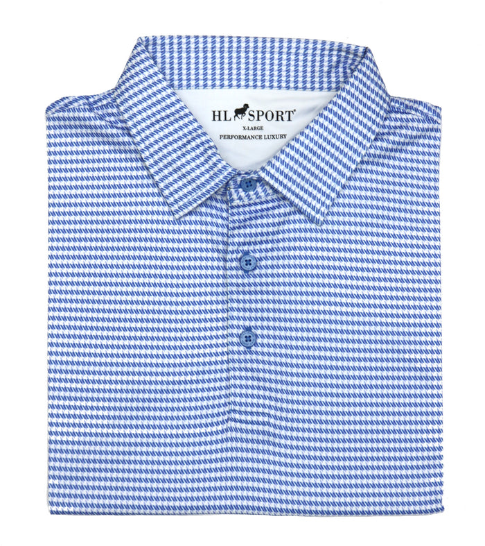 Horn Legend Houndstooth Performance Luxury Polo-  HL1017