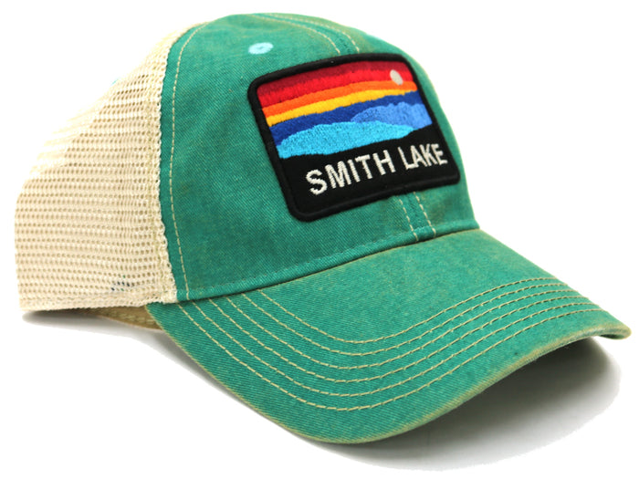 Smith Lake Sunset Trucker Hat