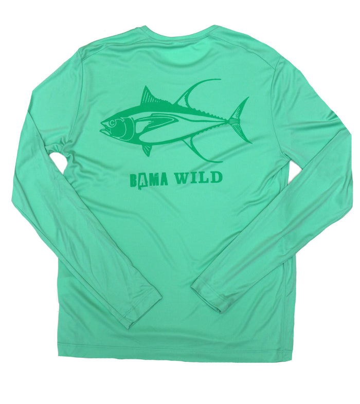 Bama Wild Long Sleeve Performance Shirt - Tuna