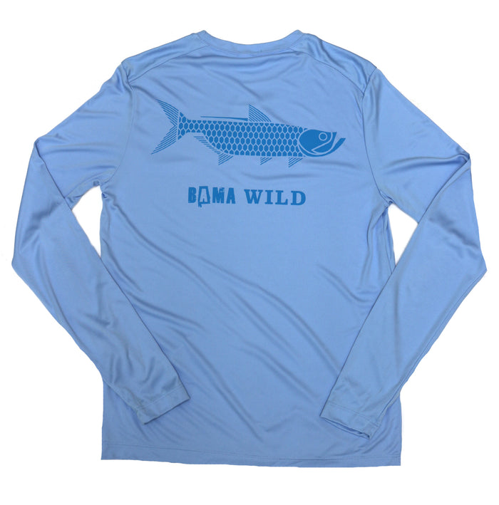 Bama Wild Long Sleeve Performance Shirt - Tarpon