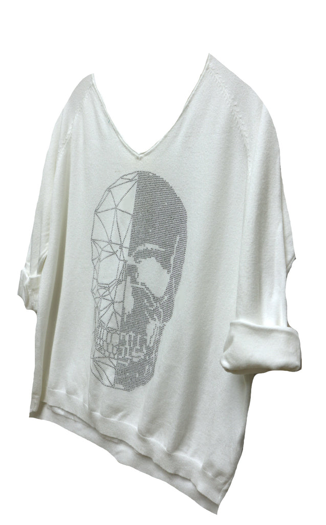 Reflection Skull Sweater