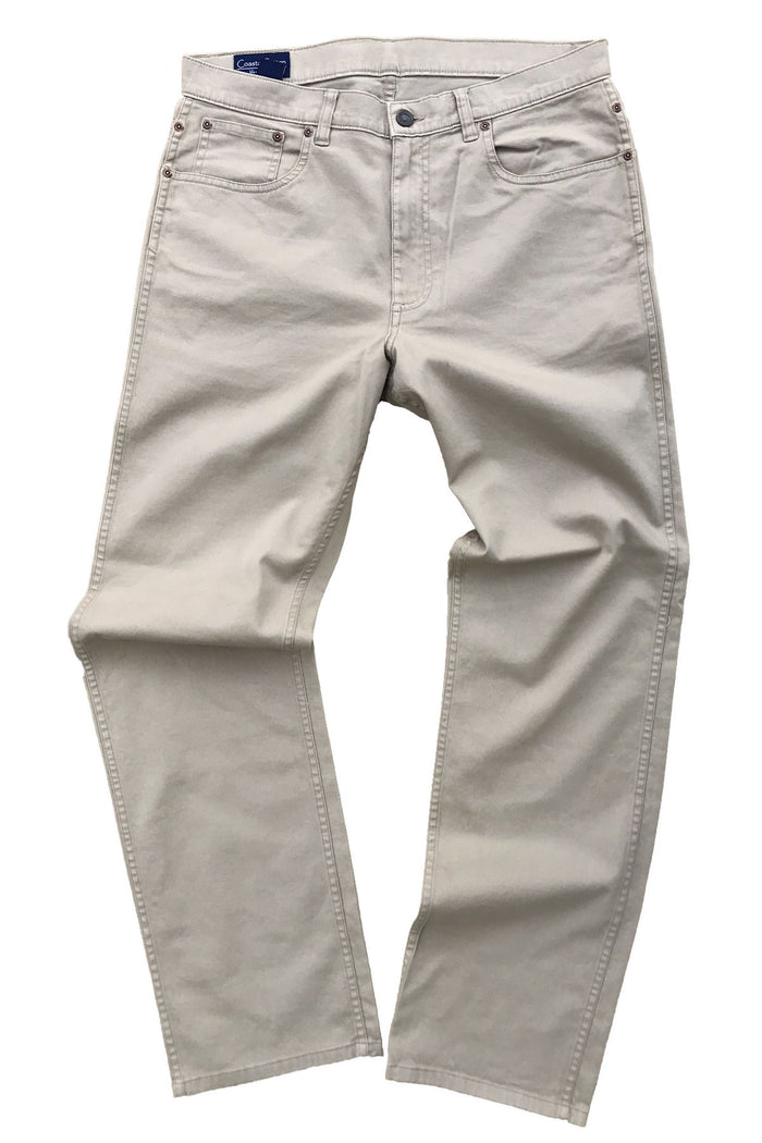 Coastal Cotton 5PKT Stretch Pant- Khaki