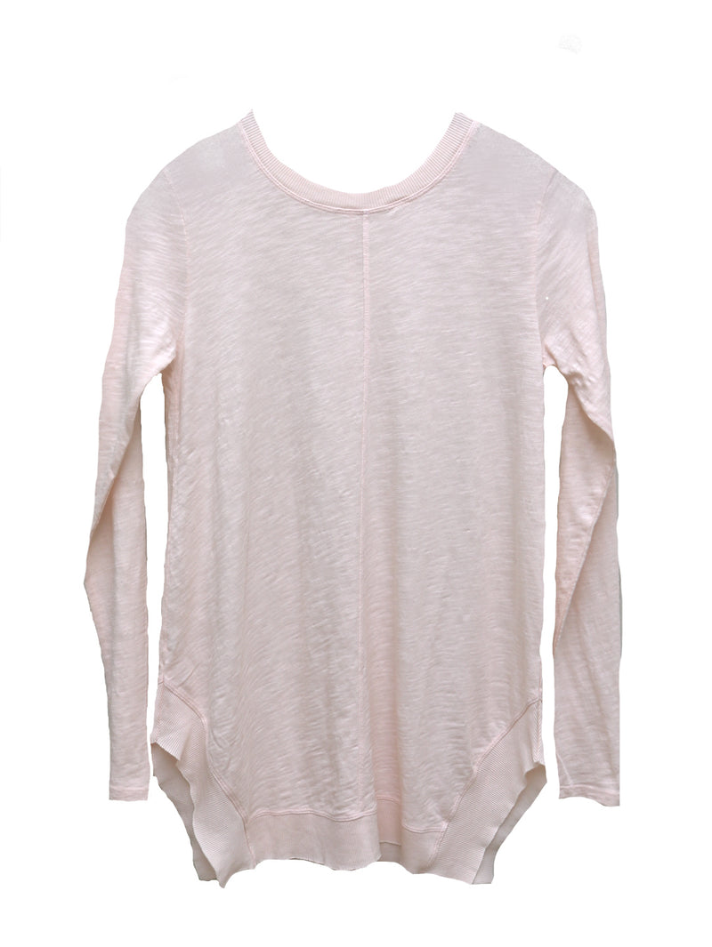 Bobi Rib Mix Crew Neck Top