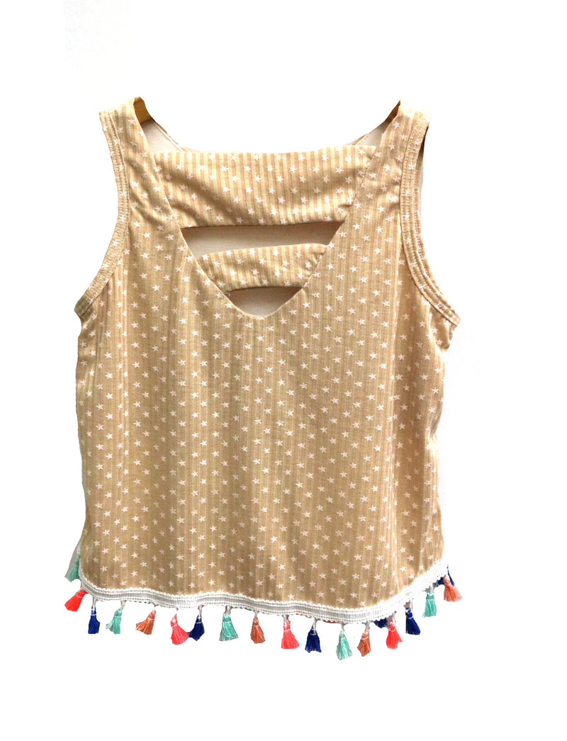 Girls Tiny Tassels Tank