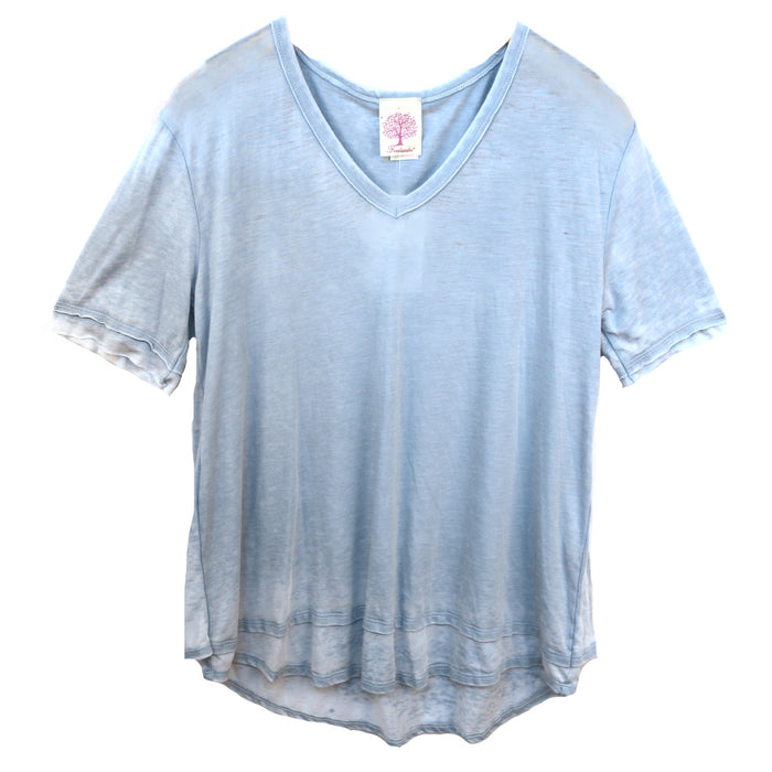 Washed On the Go Top- Blue