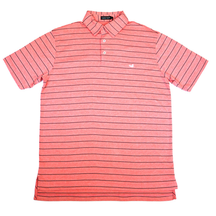 Southern Marsh Berkeley Performance Polo- Red/Navy