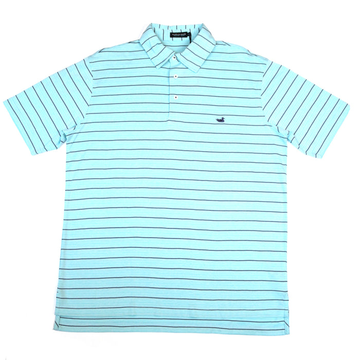 Southern Marsh Berkeley Performance Polo- Teal/Slate