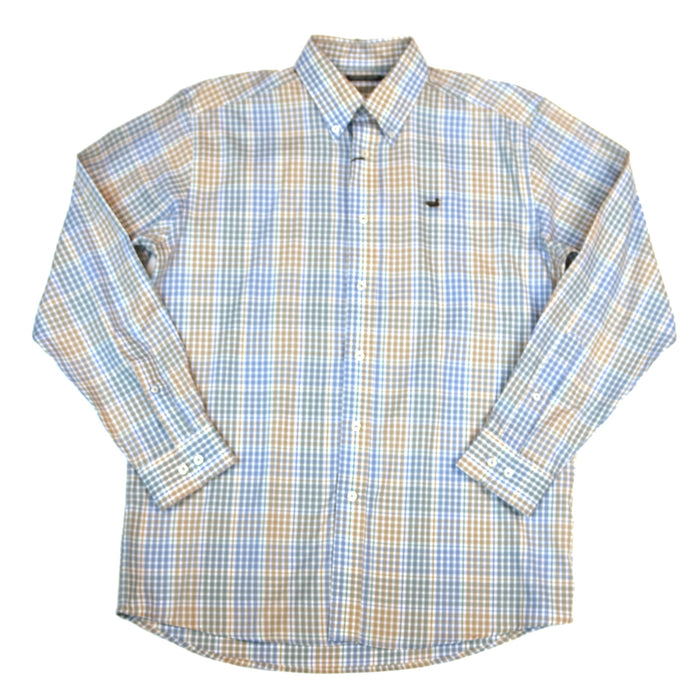 Southern Marsh Miller Gingham Button Down- Burnt Taupe/Lilac